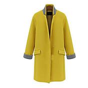 bodycon cuello solapa estilo occidental abrigo de coco zhang mujeres