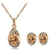 Mujer Conjunto de joyas Pendientes / Collare - Fiesta / Casual Dorado / Blanco Juego de Joyas Para
