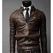 黒人すべての一致ジャケットソリッドカラーコート