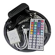 Kit llevado de las luces de tira 3528 5m 300leds rgb 60leds / m regulador 44key ir y fuente de alimentación 3a ac100-240v