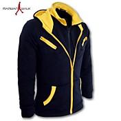 MANWAN WALK®Men's Fashion Hit Color Double Zipper Hoodie.,Plus Size(4XL)