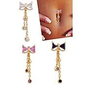 Dámské Tělové ozdoby Navel & Bell Button Rings Nerez Zirkon Jedinečný design Módní Šperky Bílá Fialová Růžová Šperky Denní Ležérní 1ks