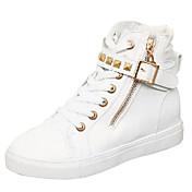 女の子 靴 キャンバス 春 秋 コンフォートシューズ スニーカー のために カジュアル ブラック ホワイト ライトブルー