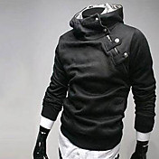 強引男性の長袖スリムファッションハイネックcausualスウェットシャツ