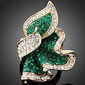 Mujer Anillos de Diseño Moda Joyería de Lujo joyería de disfraz Diamante Sintético Legierung Joyas Para Fiesta