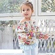 Girl's Floral Chiffon Blouses