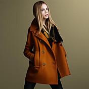 la moda de manga larga capa de color sólido de las mujeres TNL