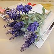 ブランチ シルク プラスチック ライトブルー テーブルトップフラワー 人工花