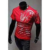 MEN Tシャツ ( コットンブレンド ) カジュアル ラウンド - 半袖
