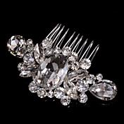 peines del pelo de la aleación con el estilo elegante de la boda del diamante artificial / del tocado del partido