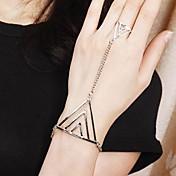 サバイバルブレスレット パンクスタイル 合金 幾何学形 トライアングル ジュエリー 用途 結婚式 パーティー 日常 カジュアル
