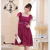 hua cheng fashionのprincess square neck knee長さのシフォンのブライドメイドドレス
