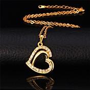Feminino Imitação de Diamante imitação de diamante Amor Moda Dourado Prata Jóias Para Ocasião Especial Aniversário