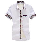 Camisas Casuales ( Algodón Orgánico )- Casual Cuadrado Manga Corta