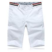 Shorts De los hombres Un Color Casual / Trabajo / Formal / Deporte / Tallas Grandes-AlgodónBlanco / Gris