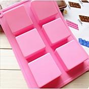 ファッションシリコーン石鹸アイスモデリングケーキ金型キッチン耐熱皿ケーキチョコレート飾るクッキングツール(ランダムカラー)