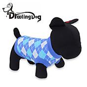 ネコ 犬 Tシャツ 犬用ウェア コットン 春/秋 格子柄 レッド ブルー コスチューム ペット用