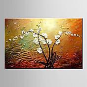 手描きの 風景 静物画 花柄/植物のModern 1枚 キャンバス ハング塗装油絵 For ホームデコレーション