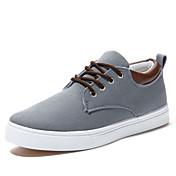Hombre Zapatos Tela Primavera Otoño Vulcanizado Zapatos Confort Con Cordón para Casual Oficina y carrera Beige Gris Azul