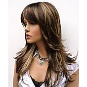 Mujer Pelucas sintéticas Sin Tapa Largo Ondulado Natural Marrón Las pelucas del traje