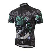 Maillot de Ciclismo con Shorts Bib Hombre Manga Corta Bicicleta Shorts/Malla corta Manguitos Camiseta/Maillot Top Sets de Prendas