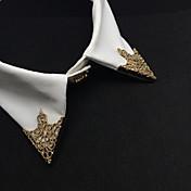 moda europeo ahuecar clip de cuello de aleación broche (1 par)