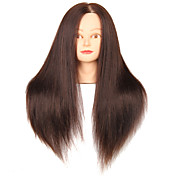 salón de animales mezclados cabeza de maniquí femenino pelo sintético con maquillaje