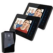 """Ennio 7 """"tft 2.4g inalámbrico video portero de teléfono intercomunicador de la casa de seguridad 1 cámara 2 monitor"""