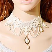 ヴィンテージゴシックチェーンドリップ真珠のネックレス
