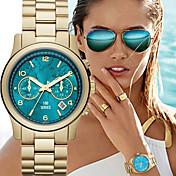 Mujer Reloj de Moda Cuarzo Calendario Aleación Banda Lujo Dorado