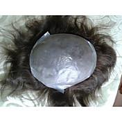 """mens pelo indio postizos peluquín piel fina 6 x8 sistema de corte de pelo """"bien remy del pelo humano 10"""" """""""