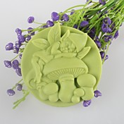 形のキノコ精神ソープモールド月餅モールドフォンダンケーキチョコレートシリコーン型、装飾ツール耐熱皿