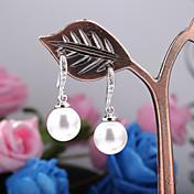 女性 ドロップイヤリング ファッション 真珠 人造真珠 キュービックジルコニア ゴールドメッキ 黒真珠 ジュエリー 用途