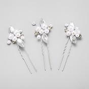 imitación de perlas de aleación de diamantes de imitación perno de pelo elegante estilo