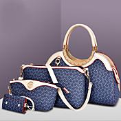 女性 バッグ オールシーズン PU ショルダーバッグ トート 4個の財布セット のために ショッピング カジュアル フォーマル ホワイト Brown ブルー ピンク