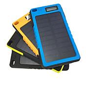 banco de la energía de la batería externa 5V 2.0A #A Cargador de batería Impermeable A prueba de polvo Linterna Carga Solar A Prueba de