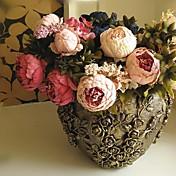 Rama Seda Peonías Flor de Mesa Flores Artificiales
