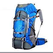 60 L Mochilas / Mochila - Impermeable, Resistente a la lluvia, A Prueba de Humedad Al aire libre Camping y senderismo, Caza, Escalada Oxford Verde, Azul, Verde Oscuro