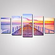 風景 ロマンティック カジュアル 写真 クラシック, 5枚 横式 プリント 壁の装飾 ホームデコレーション