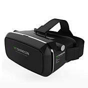 vr caja shinecon realidad virtual 3d gafas cartón 2.0 vr auriculares (color negro)