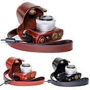 dengpin® pu bolsa de cuero caja de la cámara cubierta con correa para el hombro para gm5 panasonic lumix gm1s GM2 (colores surtidos)