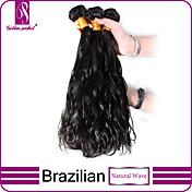 Tejidos Humanos Cabello Cabello Brasileño Ondulado Natural 3 Piezas los tejidos de pelo