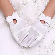 スパンデックス 手首丈 グローブ ブライダル手袋 パーティー/イブニング手袋 With 真珠 リボン