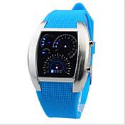 Digital Reloj de Pulsera LED Caucho Banda Encanto Negro Blanco Azul Rojo Verde