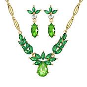 エレガントなカラフルなラインストーンの結婚式の宝石類は、クラシックな女性的なスタイルを設定