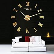 特大の金属電気めっき家のインテリアDIY丸い壁の時計