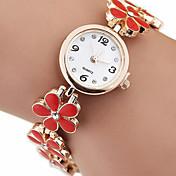 Mujer Reloj de Moda Cuarzo Aleación Banda Blanco Rojo Rosa
