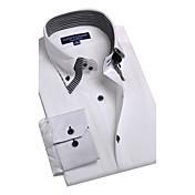 JamesEarl Hombre Cuello Camisero Manga Larga Camisa y blusa Blanco - BA102050525