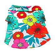 Perro Camiseta Ropa para Perro Transpirable Vacaciones Flores / Botánica Arco iris Disfraz Para mascotas