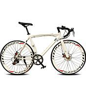 Bicicletas de carretera Ciclismo 14 Velocidad 26 pulgadas/700CC 50mm Hombre De las mujeres Unisex Adulto SHIMANO TX30 Doble Disco de Freno